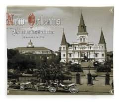Old New Orleans Louisiana - Founded 1718 Fleece Blanket