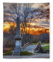 Old North Bridge - Concord Ma Fleece Blanket