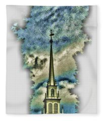Old North Church Steeple Fleece Blanket