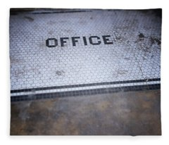 Old Office- Urban Photography By Linda Woods Fleece Blanket