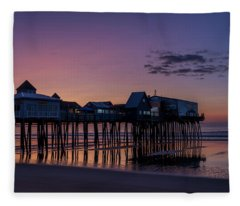 Old Orchard Beach  Fleece Blanket