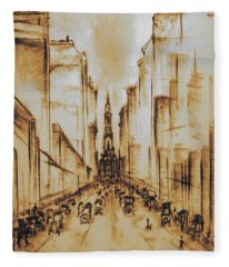Old Philadelphia City Hall 1920 Fleece Blanket