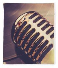 Old Radio Nostalgia Fleece Blanket