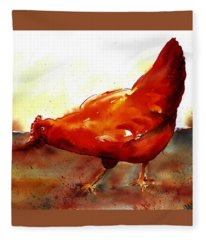 Picking With The Chickens Fleece Blanket