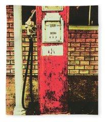 Old Roadhouse Gas Station Fleece Blanket