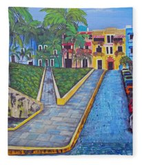 Old San Juan Fleece Blanket