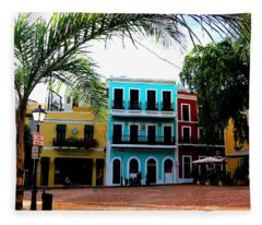 Old San Juan Pr Fleece Blanket