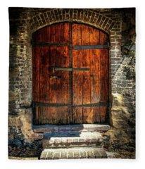 Old Savannah Warehouse Door Fleece Blanket