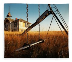 Old Savoy Schoolhouse Fleece Blanket
