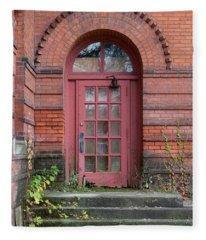 Old School House Door Fleece Blanket