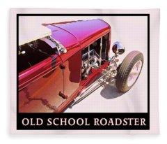 Old School Roadster Title Fleece Blanket