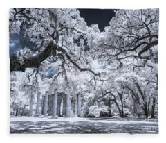 Old Sheldon Church In Infrared Fleece Blanket