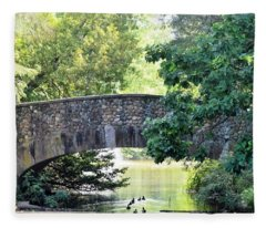 Old Stone Walkway Fleece Blanket