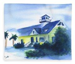Old Sullivan Island Lighthouse Fleece Blanket