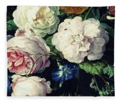 Old Time Botanical Fleece Blanket