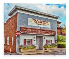 Old Town Hall Blacksburg Virginia Est 1798 Fleece Blanket