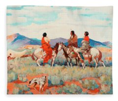 Smoke Trails Paintings Fleece Blankets