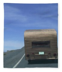 Old Trailer Fleece Blanket