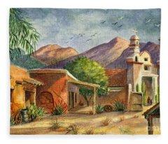 Old Tucson Fleece Blanket