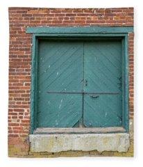 Old Warehouse Loading Door Fleece Blanket
