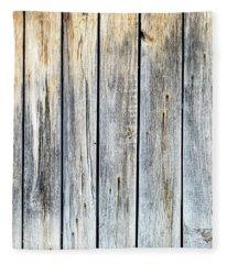 Old Weathered Wood Planks Fleece Blanket