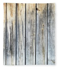Old Weathered Wood Planks Fleece Blanket