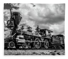 Old West Train Fleece Blanket