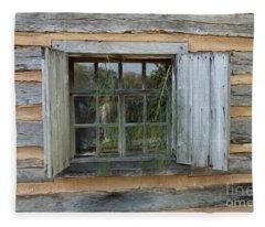 Old Window Fleece Blanket