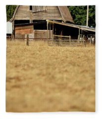Old Wooden Barn Fleece Blanket