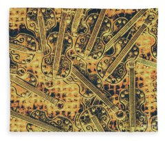Old-world Musical Composition Fleece Blanket