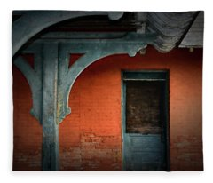 Old Ypsilanti Train Station Fleece Blanket
