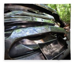 Oldsmobile Bumper Detail Fleece Blanket