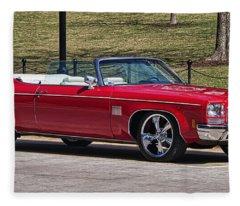 Oldsmobile Delta Royale 88 Red Convertible Fleece Blanket