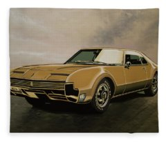Oldsmobile Toronado 1965 Painting Fleece Blanket