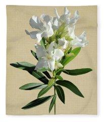 Oleander Botanical Fleece Blanket