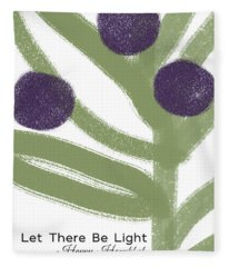 Olive Branch Hanukkah Card- Art By Linda Woods Fleece Blanket