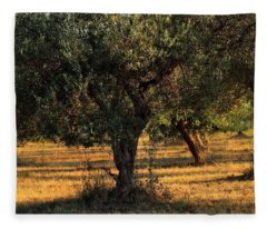 Olive Grove 3 Fleece Blanket