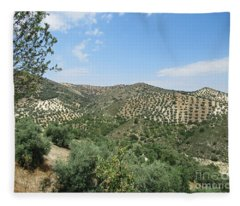 Olive Groves Near Iznajar Fleece Blanket