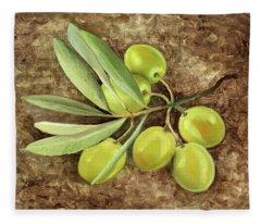 Olive Fleece Blanket