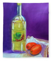 Olive Oil And Tomatoes Fleece Blanket