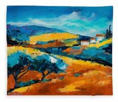 Oliviers En Provence Fleece Blanket