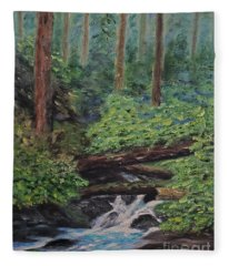Olympic National Park Fleece Blanket