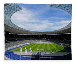 Olympic Stadium Berlin Fleece Blanket