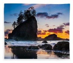 Olympic Sunset Fleece Blanket