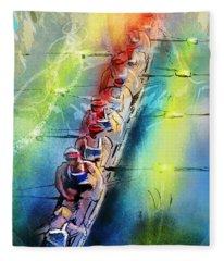 Olympics Rowing 02 Fleece Blanket