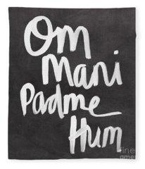 Om Mani Padme Hum Fleece Blanket