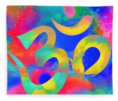 Om Symbol, Rainbow. Ver3 Fleece Blanket