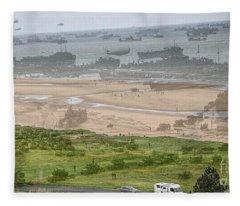 Omaha Beach Fleece Blanket