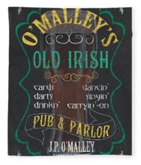 O'malley's Old Irish Pub Fleece Blanket