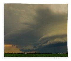 Ominous Nebraska Outflow 007 Fleece Blanket